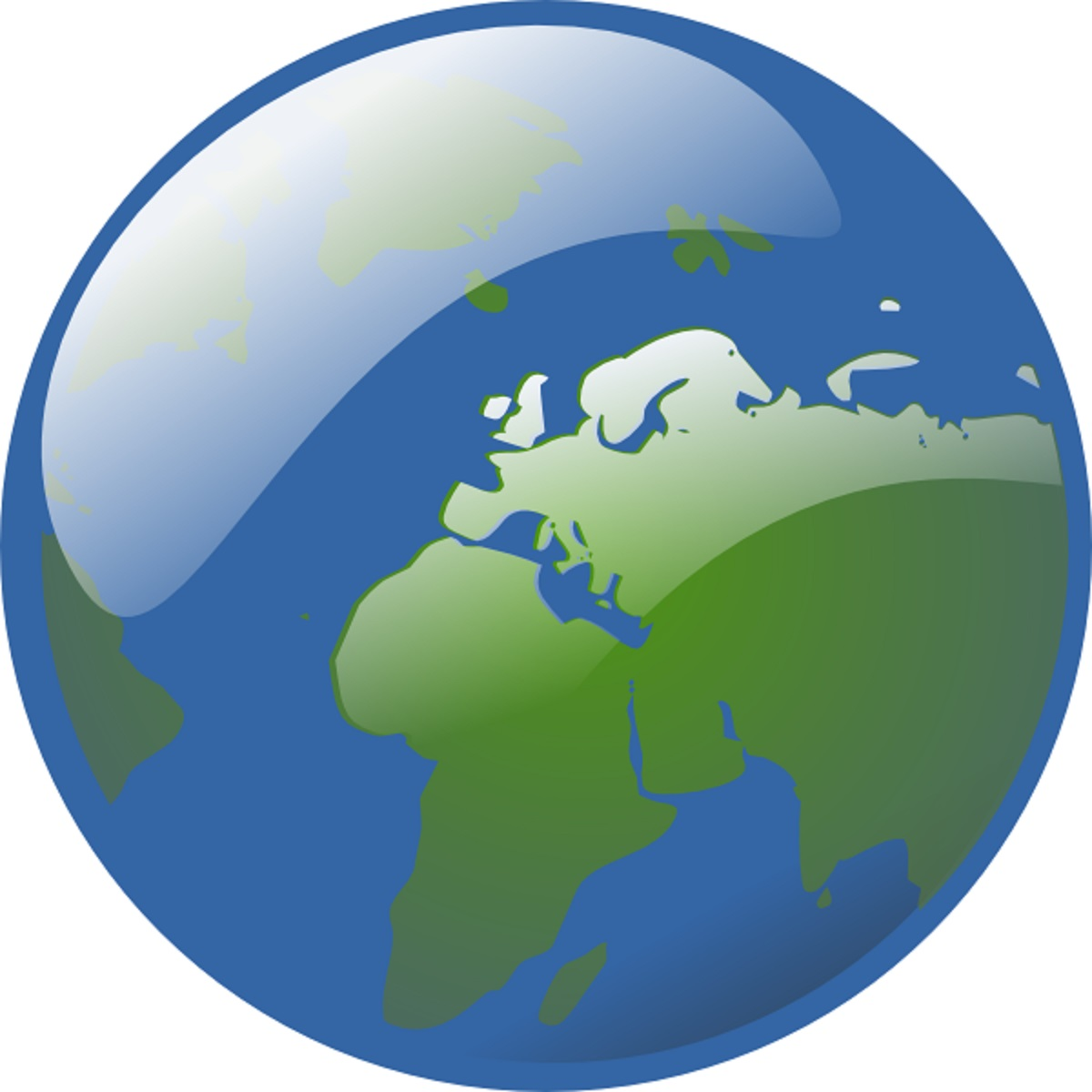 Earth Globe clip art high