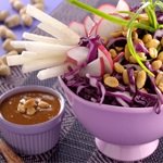 Cabbage Salad with Peanut Dressing